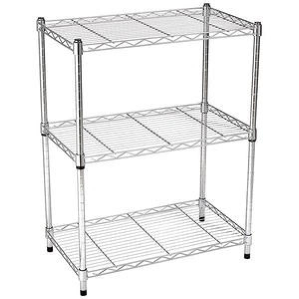 Stainless Steel Wire Store Chinese Floor Storage Supermarket Metal Retail Store Fruit Gondola Store Display Rack Stand Shelf